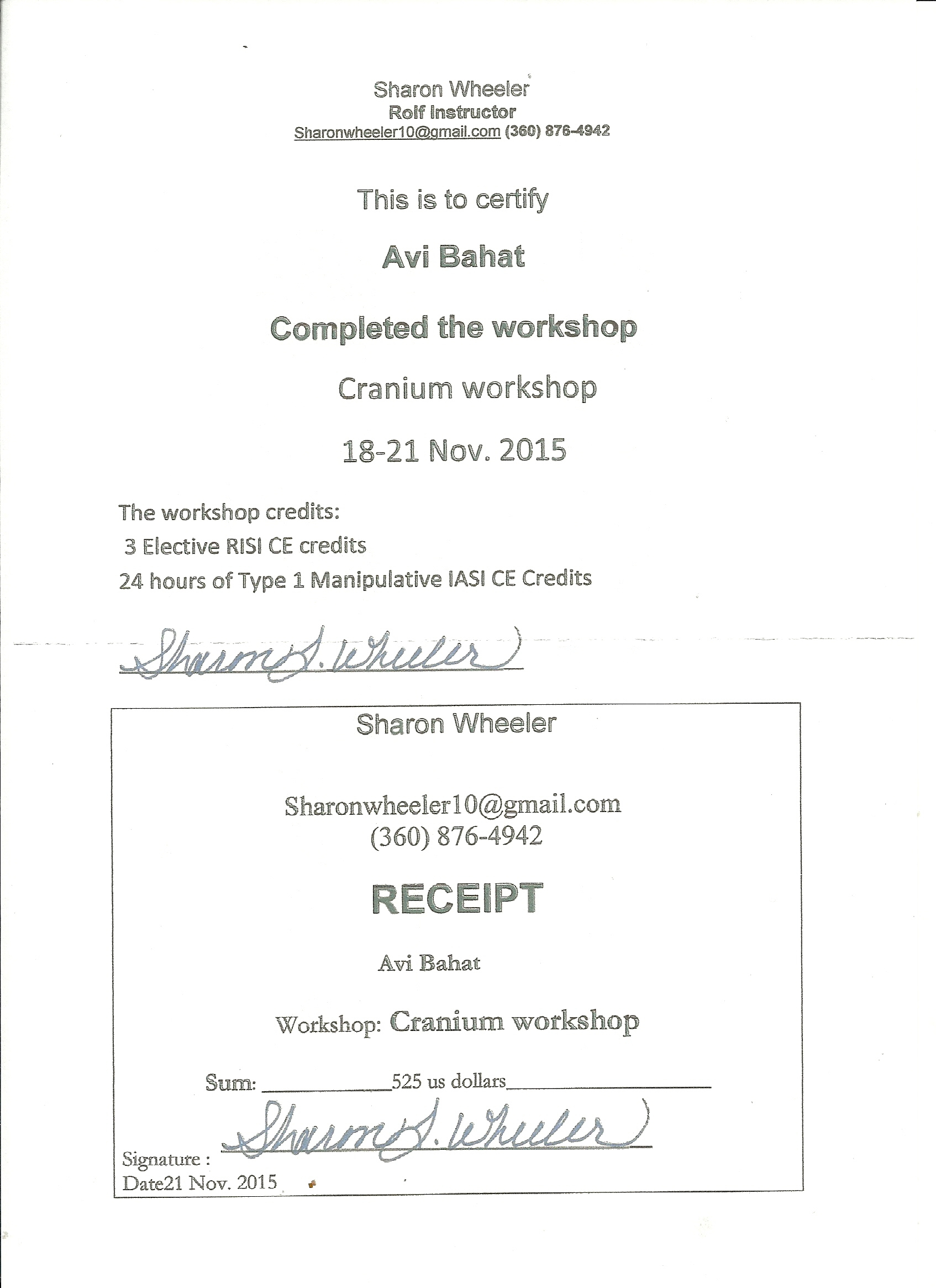 Cranium  workshop with Sharon Wheeler 2015
