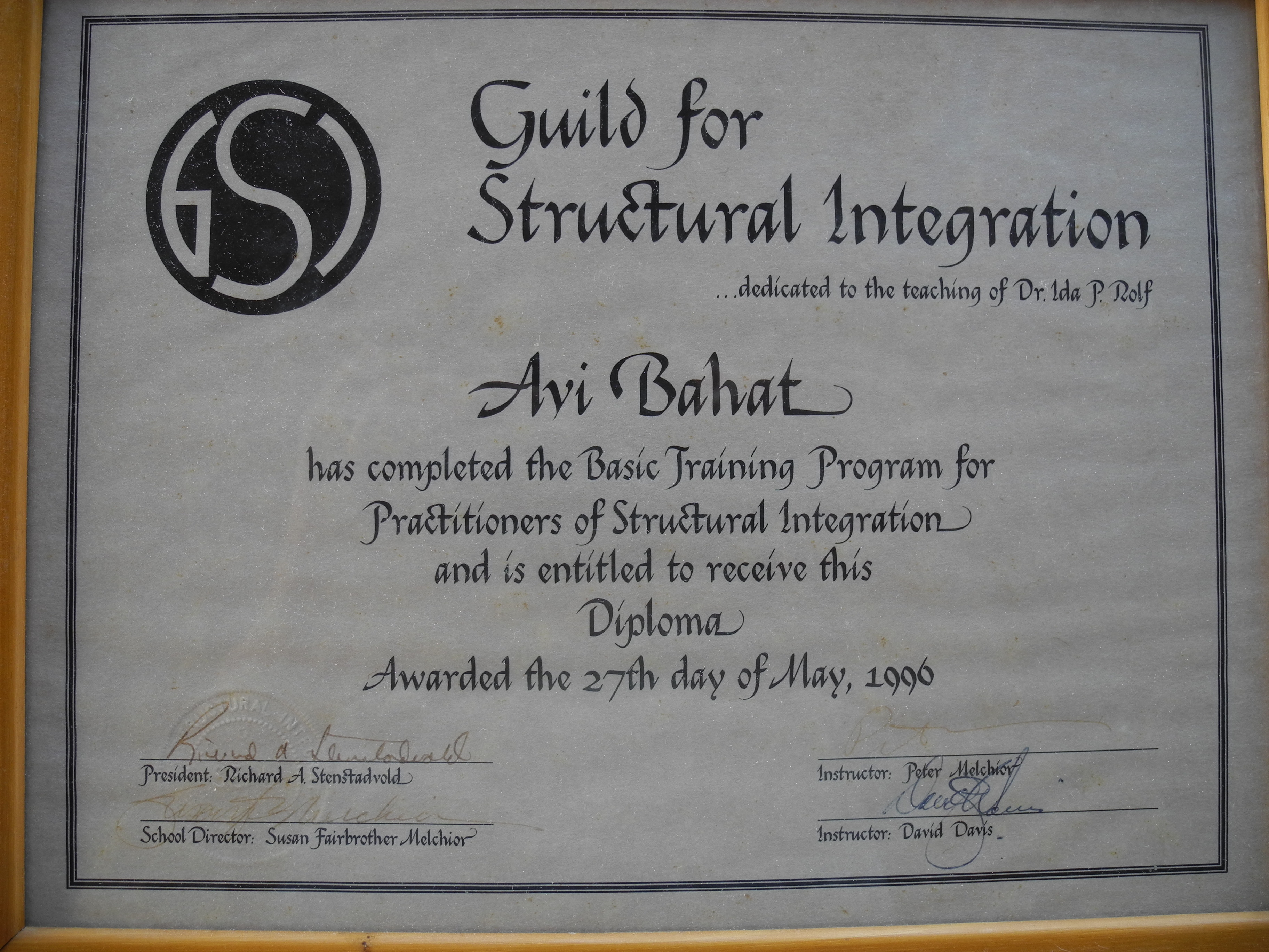 Structural Integration Diploma 1996