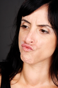 Upper lip to the nose takes care of the neck while in housekeeping or daily activities