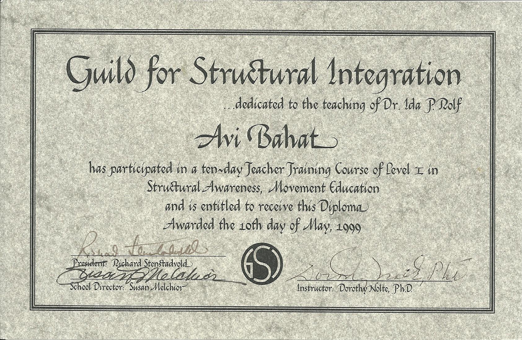 Structural Awareness 1999